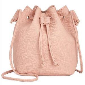 Macy's pink blush bucket bag